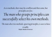 Principles vs Methods quote